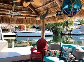 Waterfront Home Private 50ft Concrete Boat Dock Pet-friendly Tropical vacation, vacation rental in Key Largo