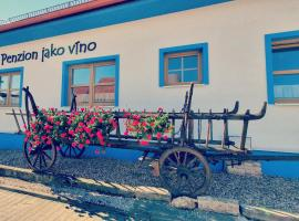 Penzion jako víno, hotel v destinaci Bulhary