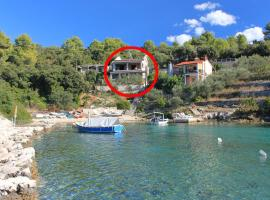 Apartments by the sea Cove Stratincica, Korcula - 9264, budget hotel in Vela Luka