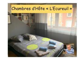 """Chambres d'hôte """"L Écureuil"""" à 10 min de Mons - 400m du PASS - 15 min de Pairi Daiza, hotel in Frameries"""