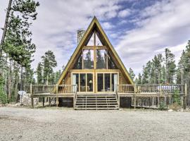 Cozy Fairplay A-Frame Cabin with Fire Pit and Loft, hotel with parking in Fairplay