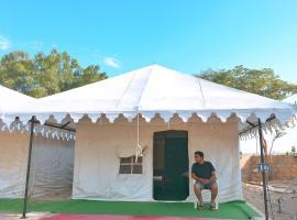 Toffu Desert safari camp, luxury tent in Jaisalmer