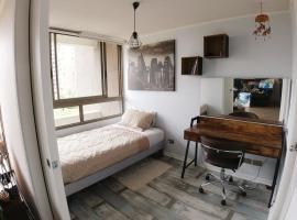 Habitación con baño privado y wifi, habitación en casa particular en Santiago