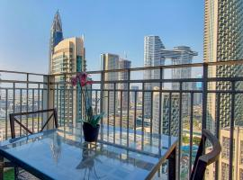 Lux BnB 1BR Apt @ Top Floor Burj & Sea Views Downtown, apartment in Dubai