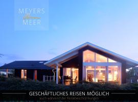 Schwarzes Holzferienhaus mit Sauna -- FELDRAIN -- an der Ostsee, Zierow bei Wismar, 4-6 Personen, holiday home in Zierow