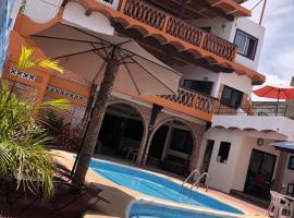 Bungalows Flamingos, hotel que admite mascotas en Rincón de Guayabitos