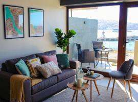 Espectacular departamento con vista al mar en Mirador Barón Valparaíso, apartamento en Valparaíso