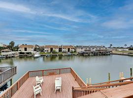 Canal-Front Getaway with Private Dock - Near Beach home, vacation rental in Corpus Christi