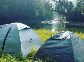 Coorg River Rock Camping, luxury tent in Madikeri