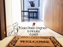 L'appart du Petit Prince By Beds4Wanderlust - Fabuleux T2 avec jardin - Gare Plaisir Grignon, family hotel in Plaisir