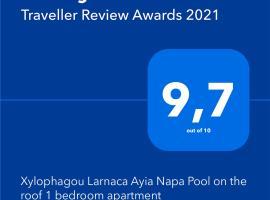 Xylophagou Larnaca Ayia Napa Pool on the roof 1 bedroom apartment, hotel near Ethnografic Museum of Avgorou, Xylophaghou