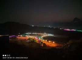 Sunset camping, luxury tent in Kolvan