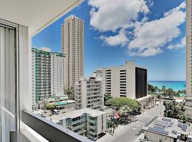 Pacific Monarch - Ocean-View Corner Unit with Pool Hotel Room, hotel in Honolulu