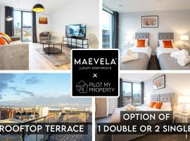 NEW BUILD City Centre Apartment - Option of 1 Double or 2 Single Beds - ROOF TOP TERRACE - Digbeth, Birmingham City Centre - FREE NETFLIX, ALEXA & SMART TV, apartment in Birmingham