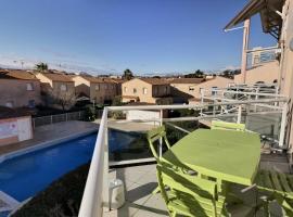 Appartement pour 5 personnes dans une résidence avec piscine, apartment in Valras-Plage