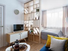 White apartment on the island., отель в Санкт-Петербурге, рядом находится Выставочный комплекс Ленэкспо