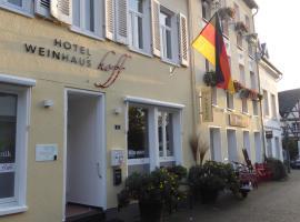 Hotel Weinhaus Hoff, Hotel in der Nähe von: Schloss Drachenburg, Bad Honnef