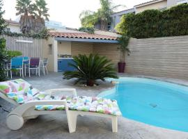 Très bel appartement (40m²) avec piscine privative, budget hotel in Perpignan