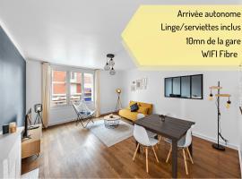 Appartement Bellanger - hyper centre - proche plage - arrivée autonome, apartment in Le Havre