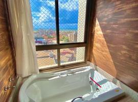 DUPLEX com hidromassagem na suite e vista MAR, hotel with jacuzzis in Aracaju