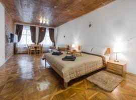 Luxury apartment with Rynok square view: Lviv'de bir daire