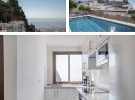 Apartamento nuevo con vistas espectaculares en el centro de Mijas Pueblo, lägenhet i Mijas
