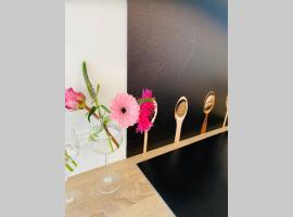 Zeer ruime privé studio met tuin, apartment in Harlingen