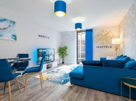 MAEVELA Apartments - ULTRA High-End New Build Apartment ✪ City Centre, Digbeth ✓ With JULIET BALCONY - ROOFTOP TERRACE - PS4 & Smart TV's, apartment in Birmingham
