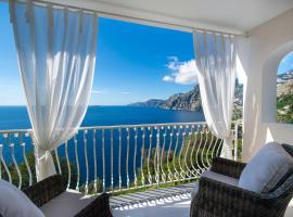 Blue Horizon with private parking, villa in Positano