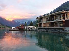 Nesset Fjordcamping, resort village in Olden