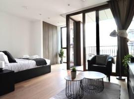 Modern Studio 10min walk to metroroof top access, hotel en Londres