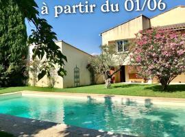 Jardins de la Sorguette - Villa de campagne climatisée - Piscine & Jaccuzy, hotel near Splashworld Aqua Park, Monteux