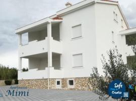 Apartments Mimi, hotel v blízkosti zaujímavosti Pláž Zrče (Novalja)