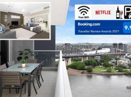 Executive 3 Bedroom Family Suite - Brisbane CBD - Views - Netflix - Fast Wifi - Free parking, hotel near New Farm Riverwalk, Brisbane