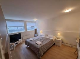 Room in House - Spacious Private Room, Queen Bed, Close To Center, sted med privat overnatting i Stavanger