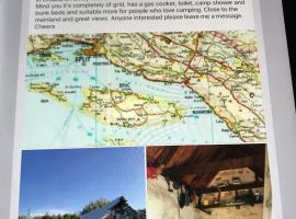 Robinson Crusoe Olive Farm, campsite in Selca