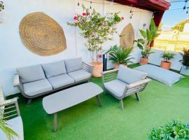 Ático Suite con terraza totalmente privada en pleno centro histórico de Sevilla, hotel cerca de Mercado de Triana, Sevilla