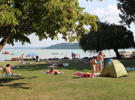 Happy Camp mobile homes in BalatonTourist Füred Camping & Bungalows, campground in Balatonfüred