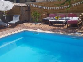 studio vue sur piscine chanot metro, budget hotel in Marseille