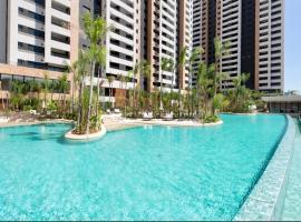 Apartamento confortável em maravilhoso condomínio, budget hotel in Sao Paulo