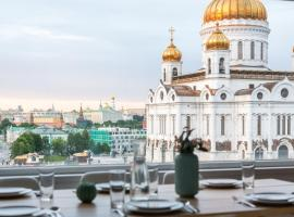 Huge penthouse in Moscow center with parking, hotel near Cathedral of Christ the Saviour, Moscow