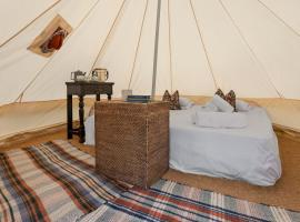 Lyth Valley Back to Basics Camping Experience in the Lake District, luxury tent in Kendal