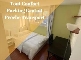 Chambre (Pluton) - Proche gare TGV et PARIS, self catering accommodation in Massy