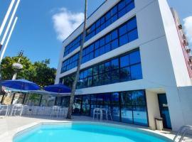 Flat com 2 quartos - Beira mar da Praia de Cabo Branco - Flat Ambassador - Flat particular, hotel with pools in João Pessoa