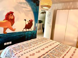 Bel appartement «The Lion King» proche Disney, apartment in Montévrain
