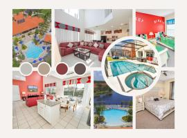 Disney Vacation Home with 7 Bedrooms, Private Pool, Hot Tub and Lake View, hotel in Kissimmee