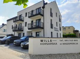 WILLA KORSARSKA, family hotel in Władysławowo