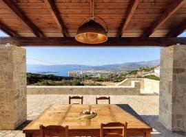 Exclusive natural stone house with sea- and country view - Agios Nikolaos, Crete, apartment in Agios Nikolaos