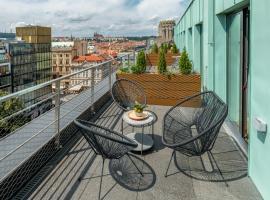 VN3 Terraces, apartment in Prague