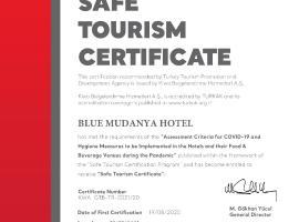 BLUE MUDANYA HOTEL, отель в Бурсе